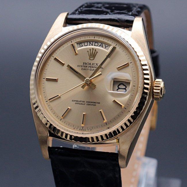 1970年 〜 1979年   1971年 K18金無垢 アンティーク ロレックス デイデイト ref1803 cal1556 YG 新品仕上【OH済】