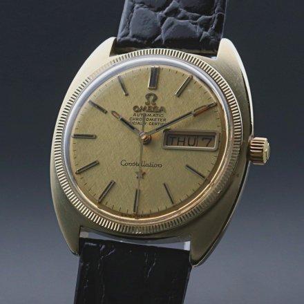 1970年 オメガ アンティーク YGコイン コンステレーション Cライン デイデイト cal751 クロノメーター 絹目 ゴールドキャップ ヴィンテージ【OH済】の商品画像