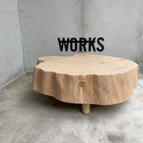 4/7 13:00発売!#47 WORKS MODEL / 丸太の輪切りテーブル  φ約65~70cm x H-25cm