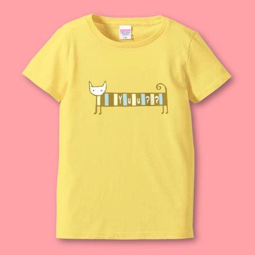 名前入り*プリントママTシャツ<br>(シマねこR)