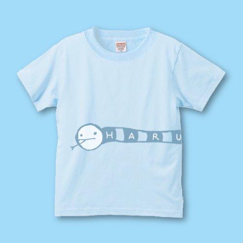 手描き*名前入りキッズTシャツ<br>(にょろ)