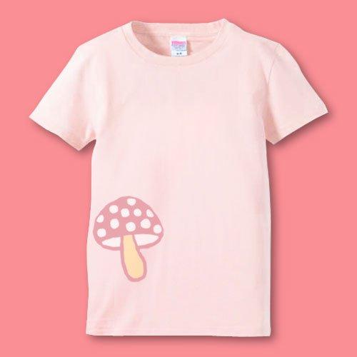 名前入り*手描きママTシャツ<br>(きのこ)