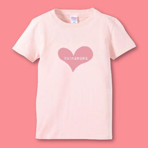 名前入り*手描きママTシャツ<br>(ハート)