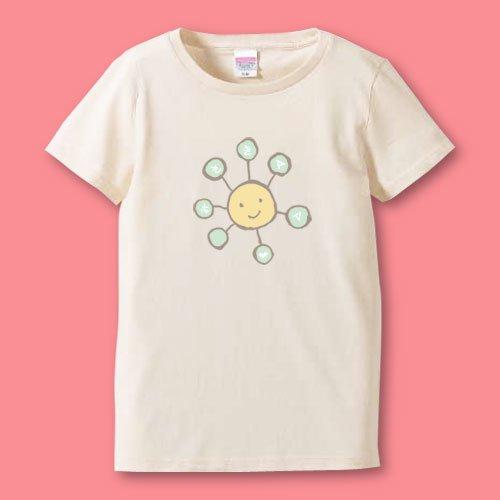 名前入り*手描きママTシャツ<br>(おひさま)