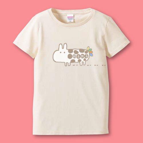 名前入り*手描きママTシャツ<br>(モルモル)