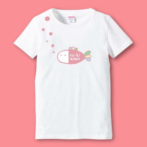 手描き*名前入りママTシャツ<br>(フィッシュ)