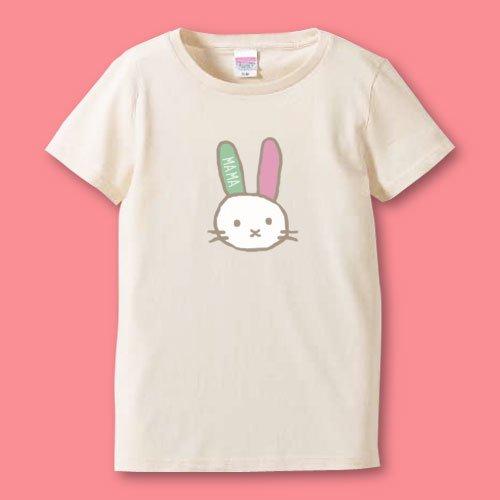 手描き*名前入りママTシャツ<br>(うさぎ)