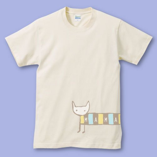 手描き*パパママTシャツ<br>(シマねこ)