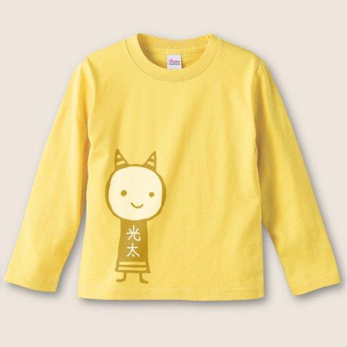 名前入り*手描き長袖Tシャツ<br>(鬼)