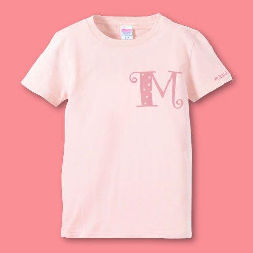 手描き*名前入りママTシャツ<br>(イニシャル)