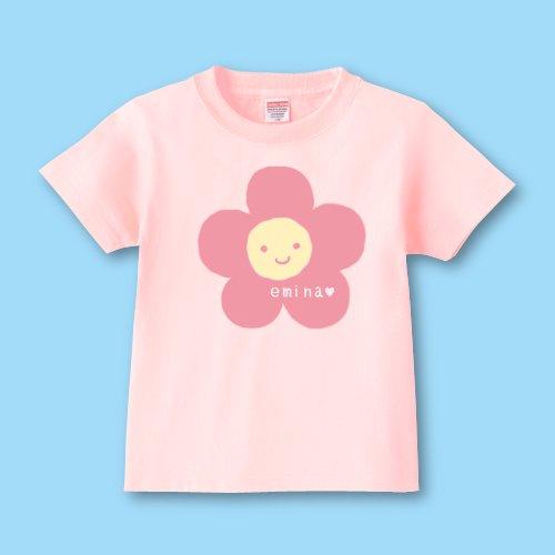 手描き*名前入りキッズTシャツ<br>(花)