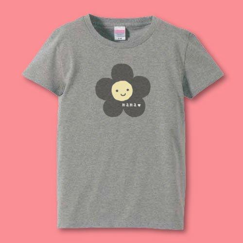 手描き*名前入りママTシャツ<br>(花)