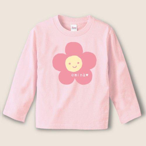 手描き*名前入り長袖Tシャツ<br>(花)
