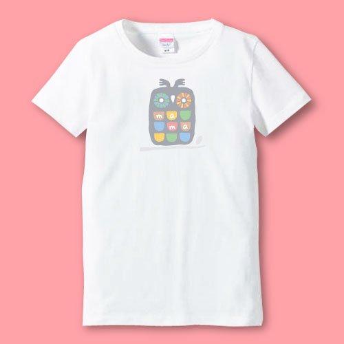 名前入り*プリントママTシャツ<br>(ふくろう)