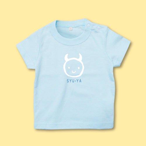 名前入り*プリントベビーTシャツ<br>(デビルR)