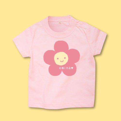手描き*ベビーTシャツ<br>(花)