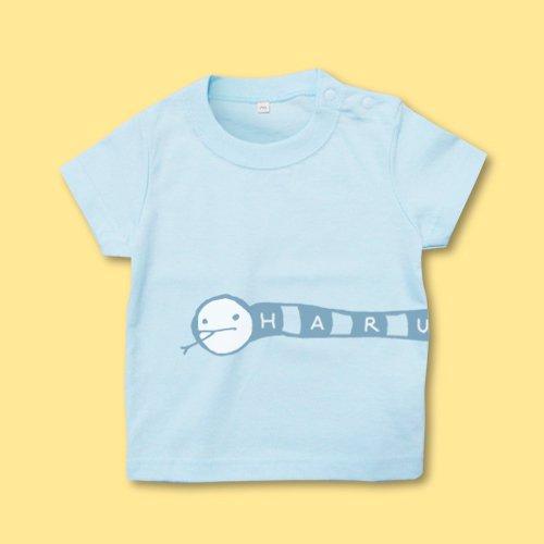 手描き*ベビーTシャツ<br>(にょろ)