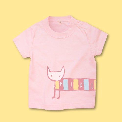 手描き*ベビーTシャツ<br>(シマねこ)