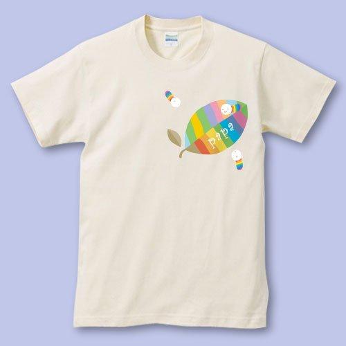 名前入り*プリントパパママTシャツ<br>(葉っぱ)