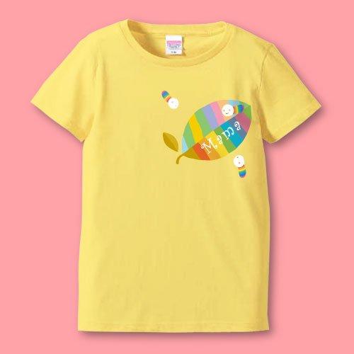 名前入り*プリントママTシャツ<br>(葉っぱ)