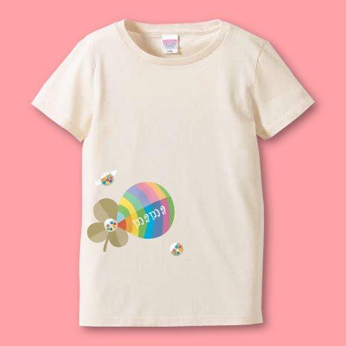 名前入り*プリントママTシャツ<br>(よつ葉)