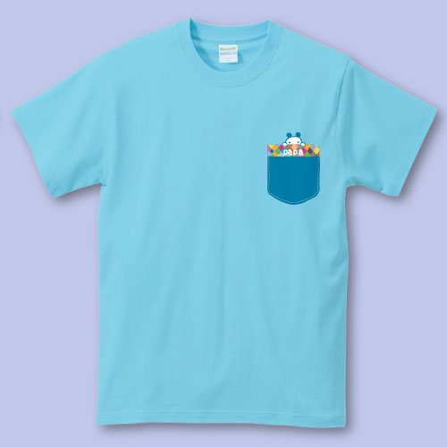 名前入り*プリントパパママTシャツ<br>(ポッケ1)