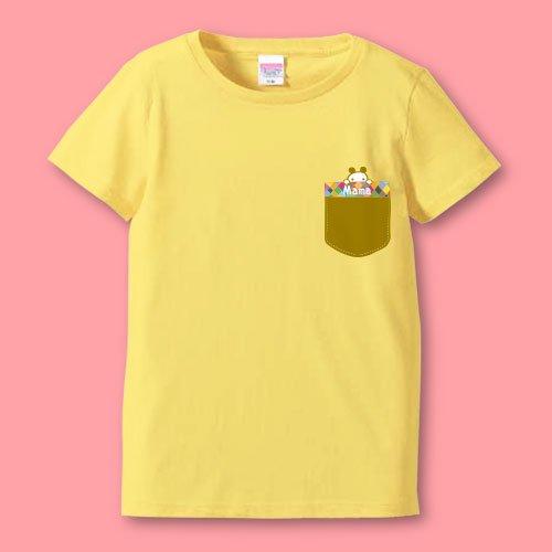 名前入り*プリントママTシャツ<br>(ポッケ1)
