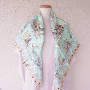 正方形 スカーフ 孔雀