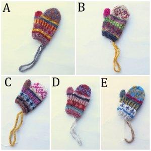People Tree リサイクルウール 手編みミ二手袋
