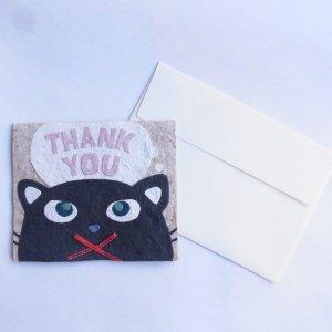 THANK YOUカード ネコ