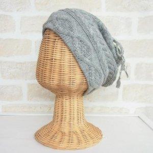 アルパカ 2wayネックウォーマー&帽子(リバーシブル) ライトグレイ