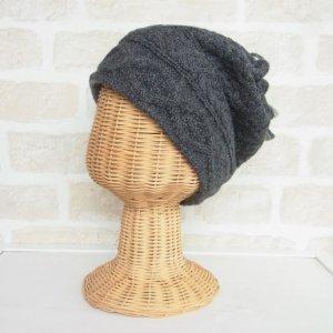 アルパカ 2wayネックウォーマー&帽子(リバーシブル) ダークグレイ