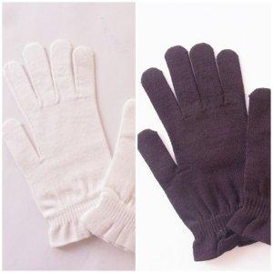 ライブコットン UVカット 手袋 ブラック