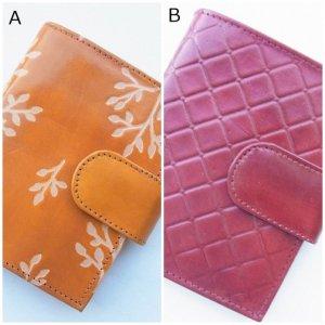 ヤギ革 二つ折り財布 ピンク 2種