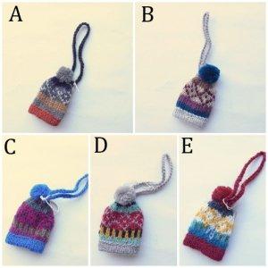 People Tree リサイクルウール 手編みミニ帽子