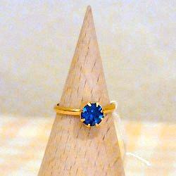 指輪 ブルー