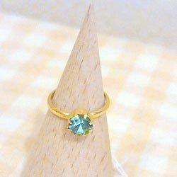指輪 水色
