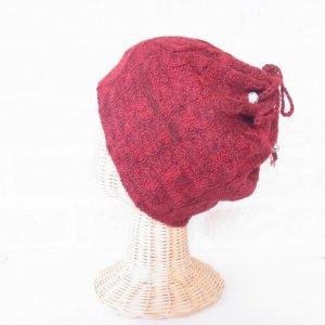 アルパカ 2wayネックウォーマー&帽子(リバーシブル) 赤
