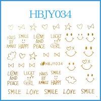 ☆フォントシール☆ゴールドカラー/HBJY034-G