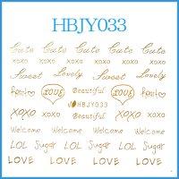 ☆フォントシール☆ゴールドカラー/HBJY033-G