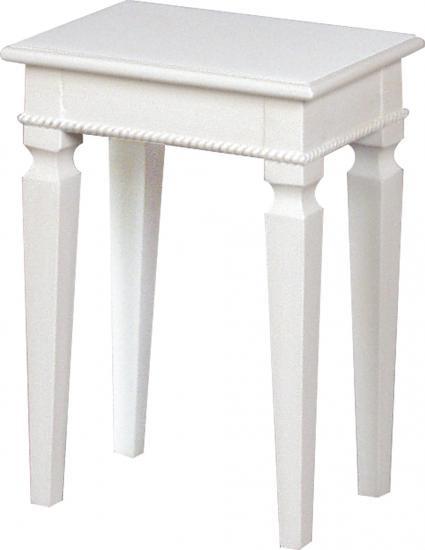 【送料無料】人気の白家具 ホワイトスツール (姫家具スツール) HB-BCC-7567
