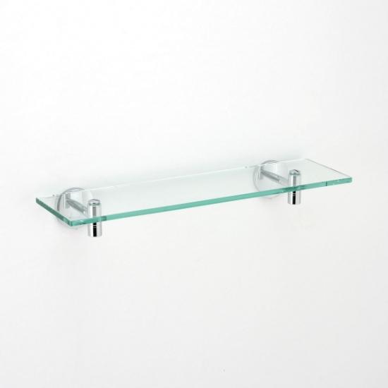 【タオルハンガー】ガラスシェルフ(シルバー) GI-640630