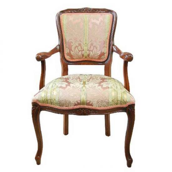 【送料無料】【アームチェア】イタリア家具<サテン ピンク>猫脚アームチェア im-2-111CPIR