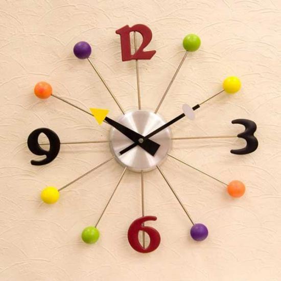 【壁掛け時計】オシャレなデザインウォールクロック(ボール) インテリア雑貨 ak-YGZ-599