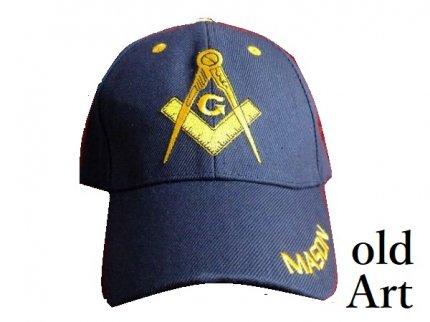 新品フリーメイソンキャップ帽子/NAVY紺【M-800】