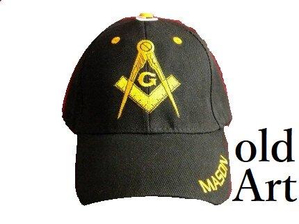 新品フリーメイソンキャップ帽子/BLACK黒【M-801】