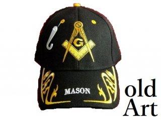 新品フリーメイソンキャップ帽子/BLACK黒【M-802】