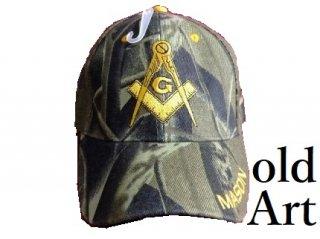 新品フリーメイソンキャップ帽子/迷彩【M-803】