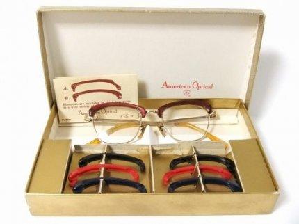 ヴィンテージアメリカンオプティカル眼鏡フレームリム替セット【AO-019】