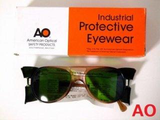 デッドストックヴィンテージAOアメリカンオプティカルティアドロップゴーグルメガネ眼鏡54□19【サイドカバー取り外し可】【AO-017】